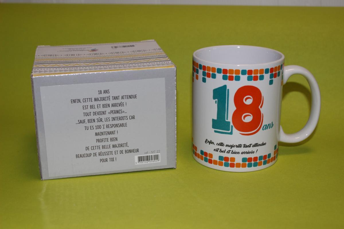 Mug anniversaire livraison de cadeau 18 ans anniversaire - Cadeau d anniversaire 18 ans ...