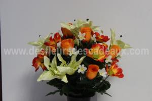Livraison de Fleurs Artificielles , Fleur plastique tombe